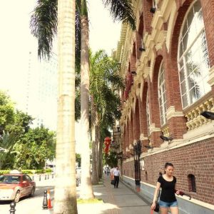 Dans l'îlot de Shamian à Guangzhou