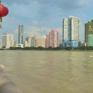 La ville moderne au bord de la Rivière des Perles
