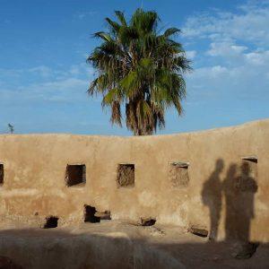Ombres chinoises sur les murs de l'ancienne medina d'Azemmour