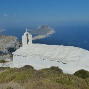 Chapelle sur le chemin de randonnée allant de Aegiali à Chora (Amorgos)