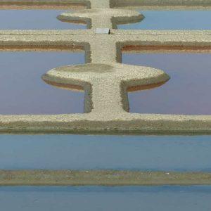 Avec leurs formes très géométriques, les marais salants prennent des allures de jardins à la française