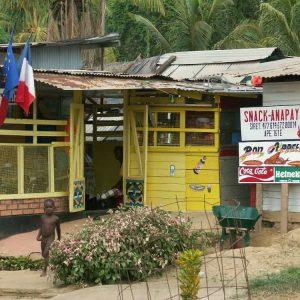 un village sur le fleuve Maroni en Guyane