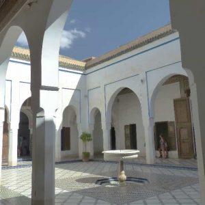 Marrakech-Palais Bahia , lieu de tournage de la mythique scène finale de Cent Mille Dollars au Soleil
