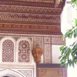 Marrakech-Palais Bahia - Détail d'une porte