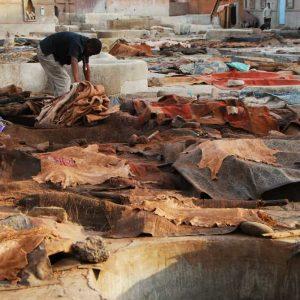Marrakech - Le Souk des Tanneurs