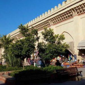La splendide mosquée de la Kasbah, dont la restauration vient de s'achever