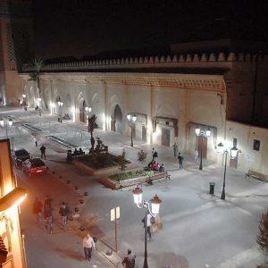 La place de la Kasbah vue de nuit