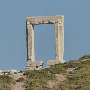 Le Portail du Temple d'Apollon à Naxos