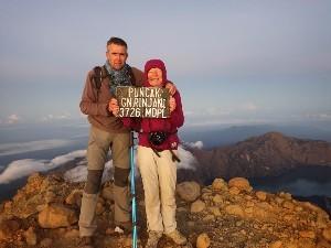 Arrivée au sommet du Rinjani Lombock