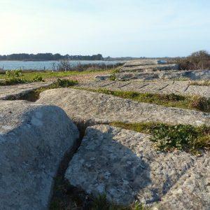 Le Dolmen des Pierres Plates près de la plage de Kerpenhir à Locmariaquer