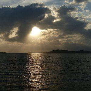 Coucher de soleil à Gili Asahan