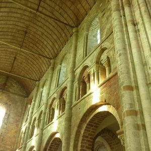 La partie romane de l'abbatiale du Mont Saint Michel