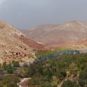 Arc en ciel sur la route reliant le Tizi N'Tichka à Ait Ben Haddou en passant par Telouet