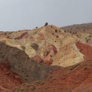 La route reliant le Tizi N'Tichka à Ait Ben Haddou en passant par Telouet