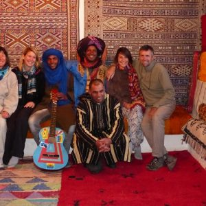 Photo souvenir avec Ramon et ses amis à Telouet