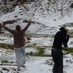 Premières neiges dans les montagnes de l'Atlas