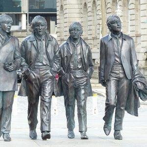 La statue des Beatles à Liverpool