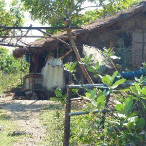 Petit village de pêcheurs à l'Est de Kuta