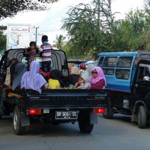 Scène de la vie quotidienne à Lombok