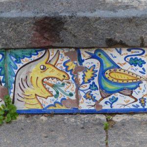 Détail de l'escalier Santa Maria del Monte à Caltagirone