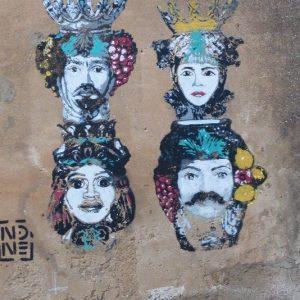 Graffitti caractéristique de Caltagirone