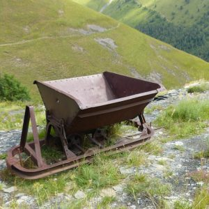 Wagonnet qui servait au transport des lauzes