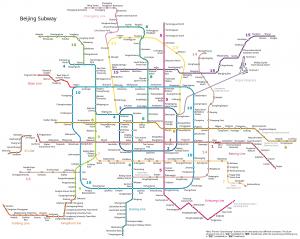 Plan du métro de Pékin